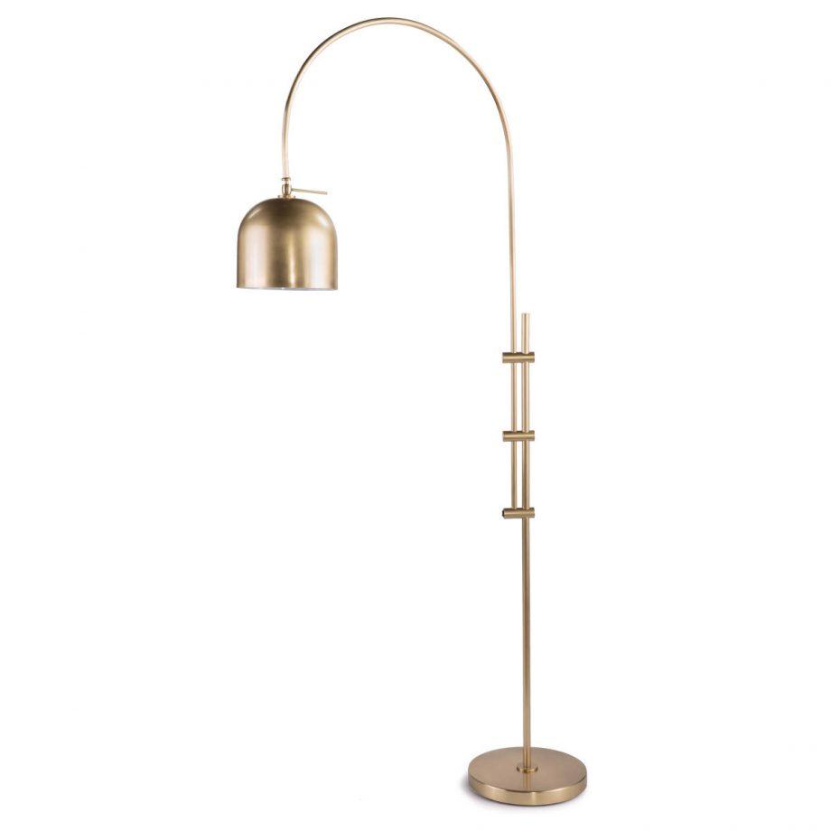 Brass Arc Overhead Floor Lamp