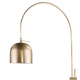 Brass Arc Overhead Floor Lamp