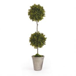 Faux boxwood double topiary