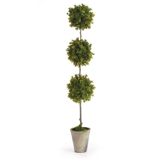 Faux Boxwood Triple Topiary
