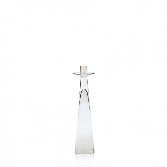 Glass reverse cone candle holder