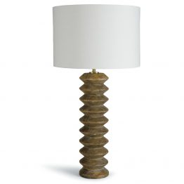 Natural Wood Accordion Table Lamp