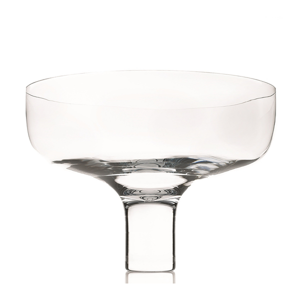 Clear Glass Bowl On Thin Funnel Base