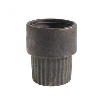 Dark Gray Terracotta Pot