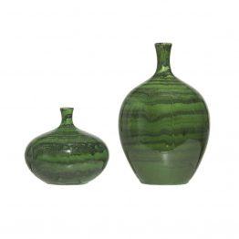 Green Glossy Glazed Vase
