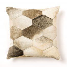 Hexagon Cowhide Pillow