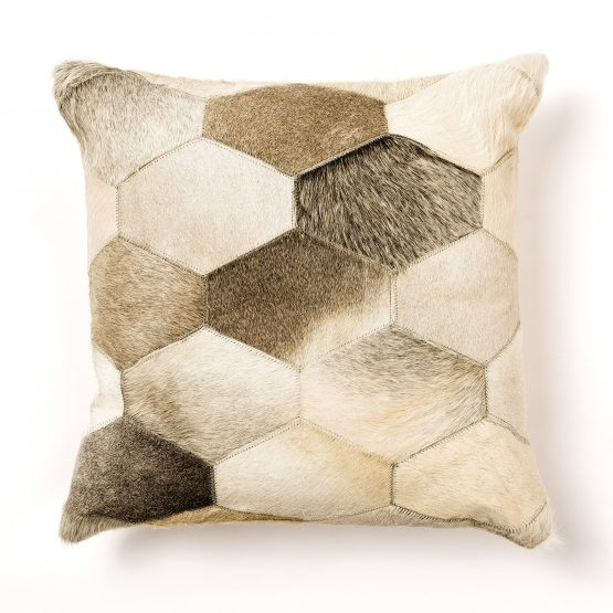 Hexagon Cowhide Pillow