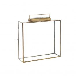 Rectangle Glass and Brass Lantern