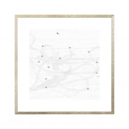 White Snowy Tracks Art