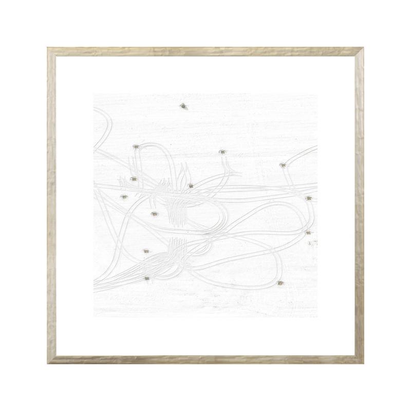 White Snowy Tracks Art