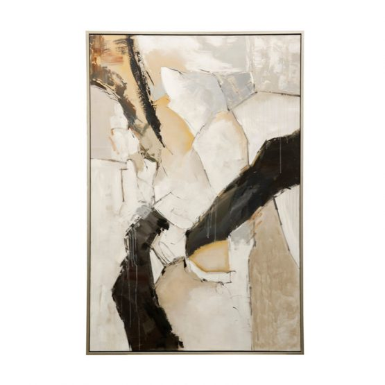 Black Brown And Gray Hand Painted Abstract Art