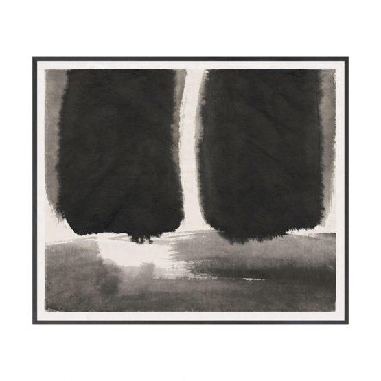 Black Ink Wash Art