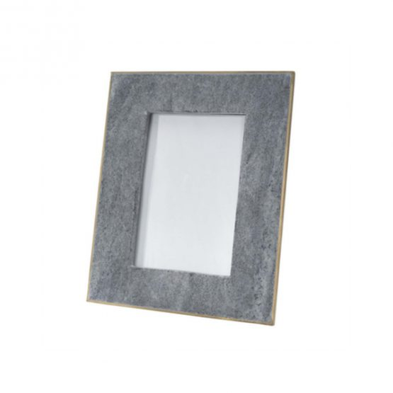 Black Marble Picture Frame With Brass Border
