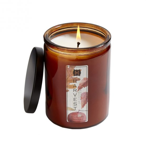 Hillhouse Naturals Apple Harvest Fall Candle in Brown Glass Jar