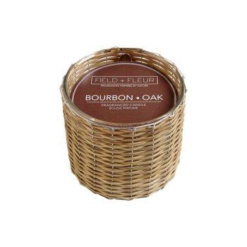 Hillhouse Field + Fluer Bourbon and Oak Fall Candle