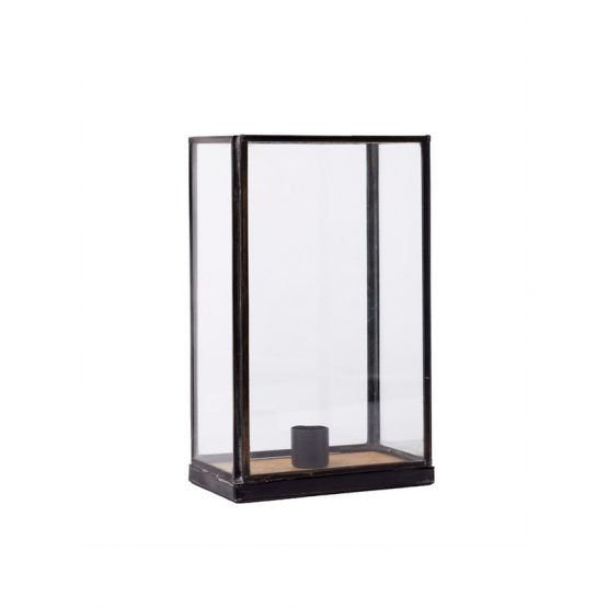 Metal and glass taper holder display box