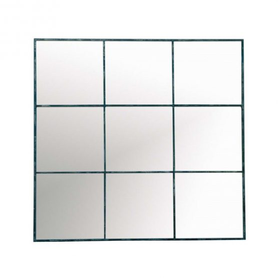 Metal Nine Grid Wall Mirror