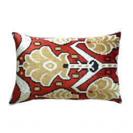 Red Black and White Turkish Lumbar Pillow