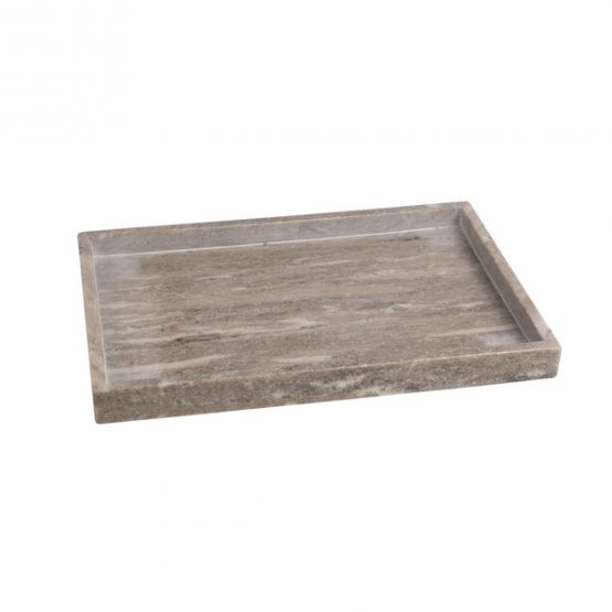 Tan Marble Rectangle Tray