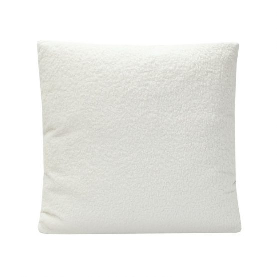 White Boucle Pillow