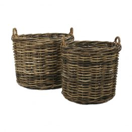 Woven Rattan Round Apple Baskets