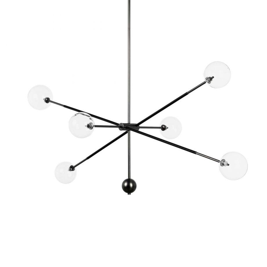 Black Contemporary Arm Chandelier