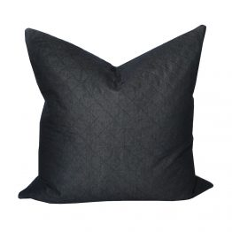 Charcoal Diamond Stitched Pillow