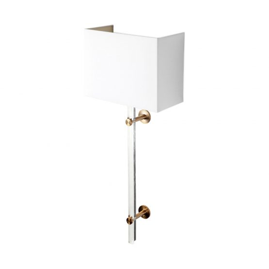 Glass And Brass Contemporary Wall Sconce
