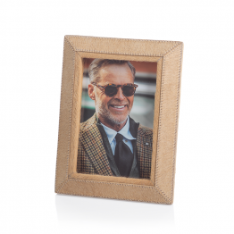 Light Brown Cowhide Picture Frame