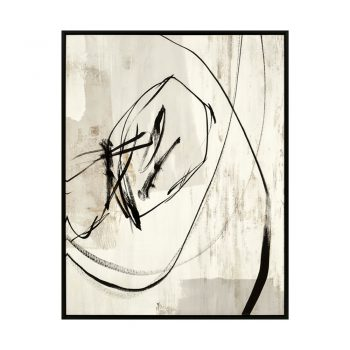 Black And White Abstract Scribble Art