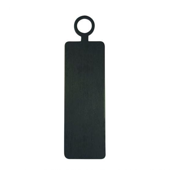 Black Rectangular Mango Wood Cutting Board With Handle