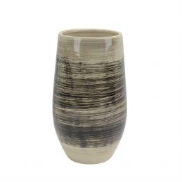 Brown And Black Brushstroke Ceramic Vase