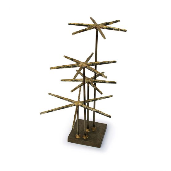 Contemporary Starburst Nail Decor Sculpture Figure