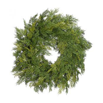 Green Soft Cedar Pine Wreath