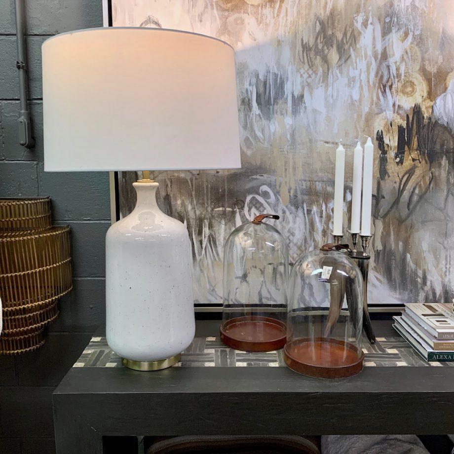 White Glazed Ceramic Table Lamp