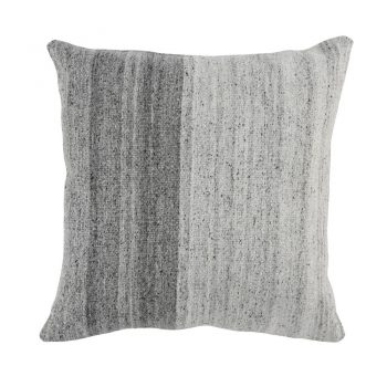 Offset Textured Gray Split Pillow