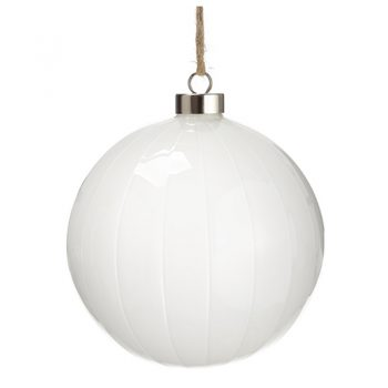 White Glass Ball Ornament