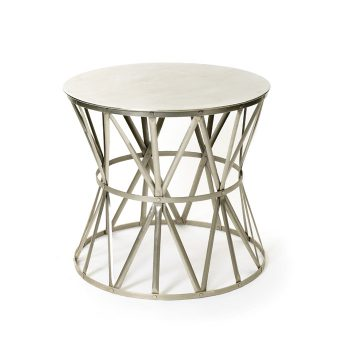 Geometric Metal Side Table