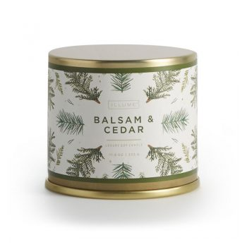 Illume Balsam Cedar Candle Noble Holiday Large Tin