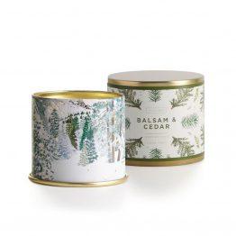 Illume Balsam Cedar Candle Noble Holiday Large Tin