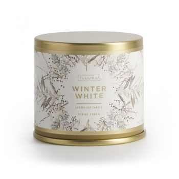 Illume Winter White Candle Noble Holiday Large Tin