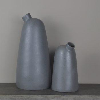 Scandinavian Charcoal Matte Vase