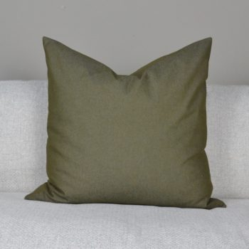 solid olive green pillow