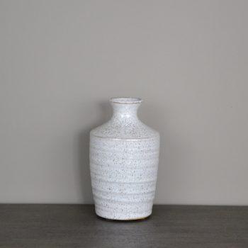 White Speckled Ceramic Budvase