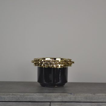Corneille Black and Gold Spike Stud Pot