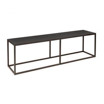black metal narrow coffee table