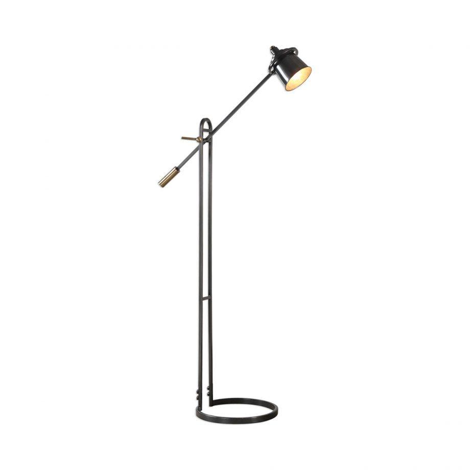 bronze and brass pivot floor lamp
