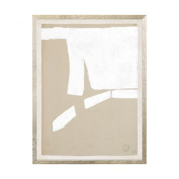 brown and white abstract art