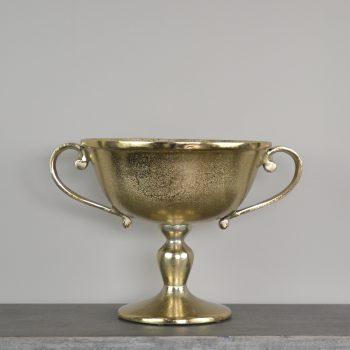 gold metal trophy compote vase
