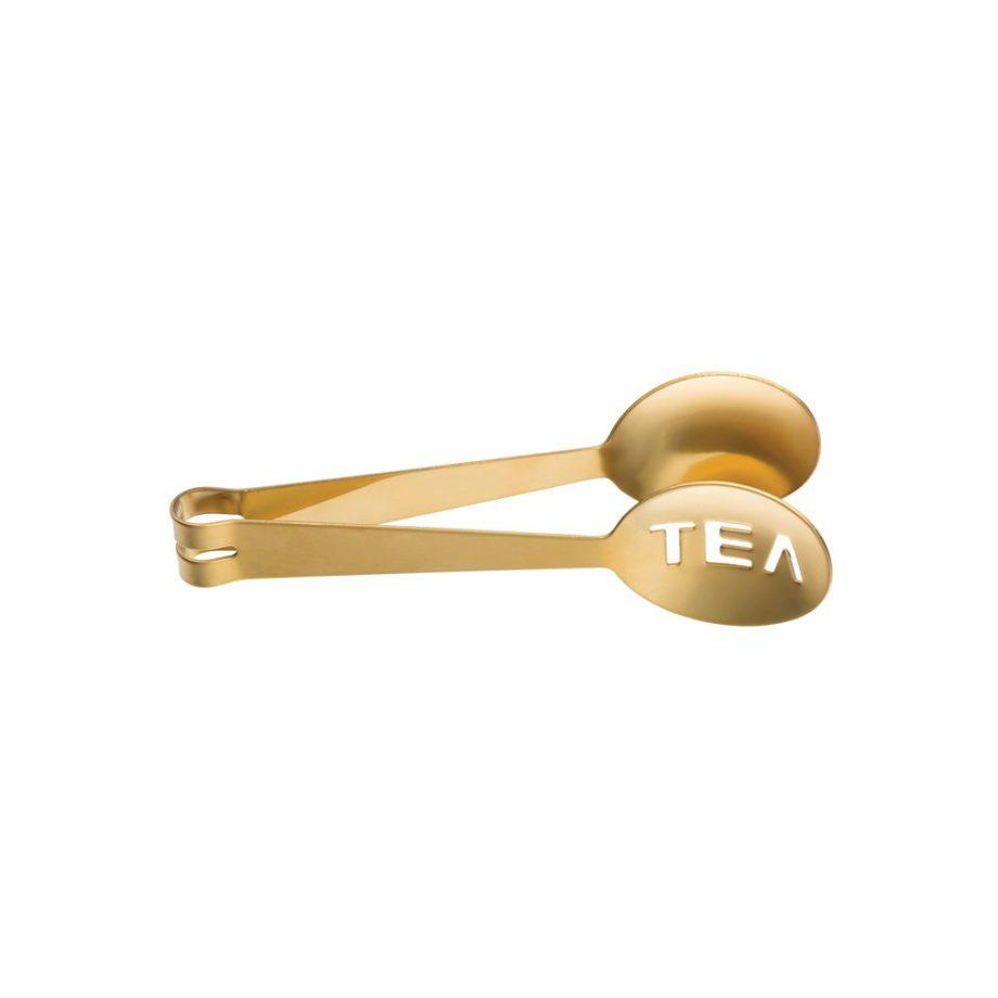 gold spoon tea tongs